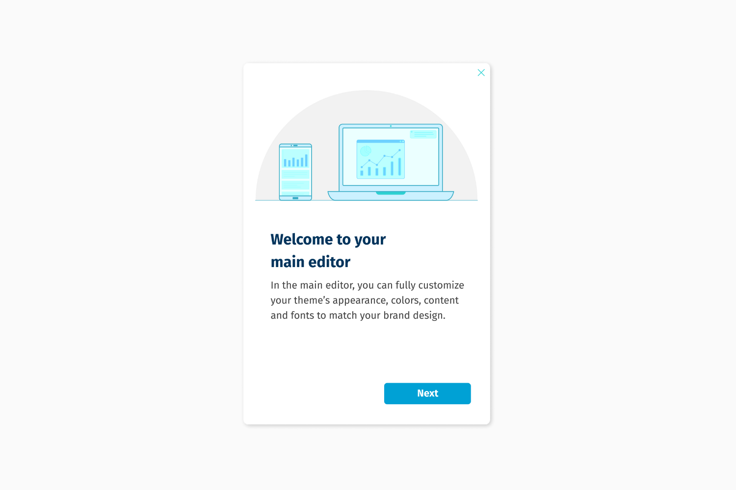Helppier Welcome Tour Template - Welcome To Your Main Editor