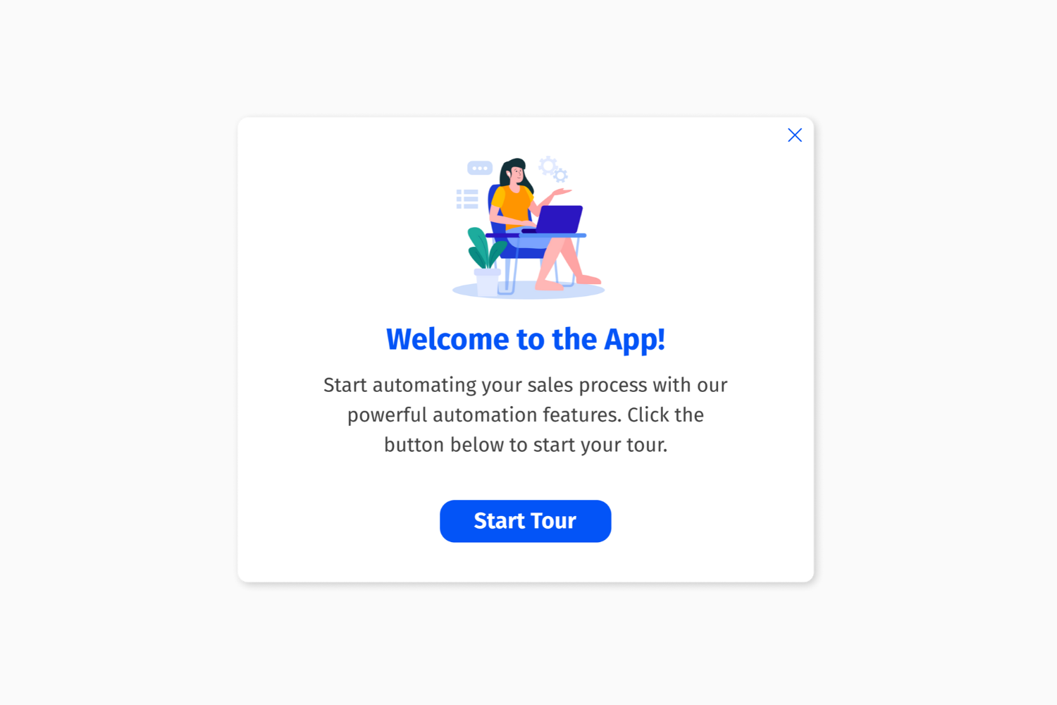 Helppier Welcome Tour Template - Welcome To The App